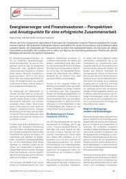 Energieversorger und Finanzinvestoren ... - BET Aachen