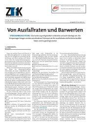 Von Ausfallraten und Barwerten - BET Aachen