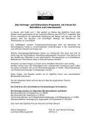 Das Vortrags- und Diskussions-Programm, ein Forum für ... - BeTa
