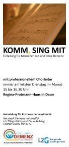Flyer KOMM, SING MIT - Seite 2