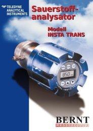 Sauerstoffanalysator INSTA TRANS - Bernt GmbH