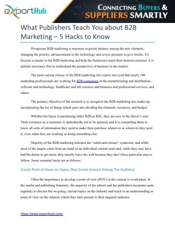 B2B Marketing Hacks