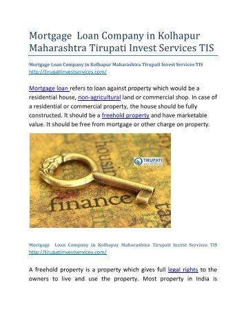 Mortgage--Loan-Company-in-Kolhapur-Maharashtra-Tirupati-Invest-Services-TIS