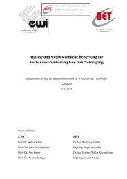 Analyse und wettbewerbliche Bewertung der - BET Aachen