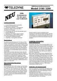 OEM- Analysatoren für den ppm  - Bernt GmbH