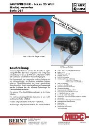 bis zu 25 Watt Serie DB4 ATEX GOST - Bernt GmbH