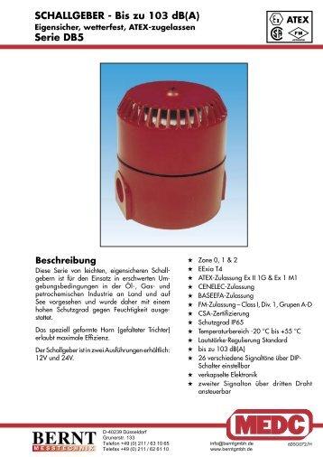 SCHALLGEBER - Bis zu 103 dB(A) Serie DB5 - Bernt GmbH