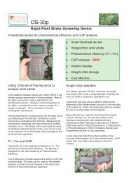 Rapid Plant Stress Screening Device - Technochrom