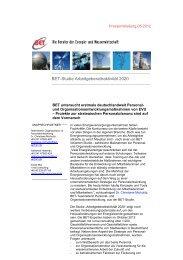 Pressemitteilung - BET Aachen