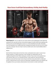 Pure Force X will Enhance Your Physical Performance Naturally
