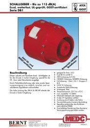 SCHALLGEBER – Bis zu 113 dB(A) Serie DB1 - Bernt GmbH