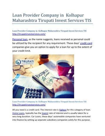 Loan-Provider-Company-in-Kolhapur-Maharasthra-Tirupati-Invest-Services-TIS