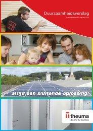 Theuma Duurzaamheidsverslag 2013 - NL