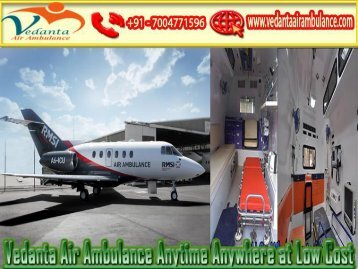 Book an Emergency Vedanta Air Ambulance from Bangalore to Delhi