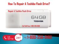 1-800-256-0160 Repair A Toshiba Flash Drive