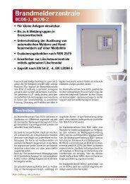 Brandmelderzentrale BC06-1, BC06-2 - Bernt GmbH