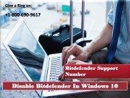 Disable Bitdefender In Windows 10 Call 1800-690-9617