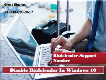 Disable Bitdefender In Windows 10 Call 1800-690-9617