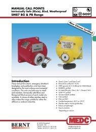 (EExia), EExd, Weatherproof SM87 BG & PB Range - Bernt GmbH