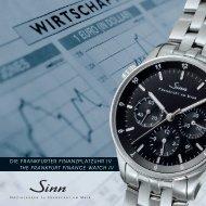 die frankfurter finanzplatzuhr iv the frankfurt finance watch iv - Sinn ...