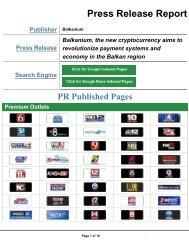 Balkanium media coverage