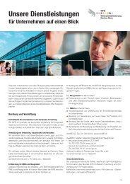 Unsere Dienstleistungen für Unternehmen auf einen Blick