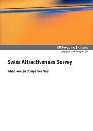 Swiss Attractiveness Survey 2006, Ernst & Young  - Bern