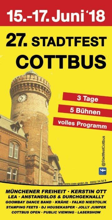 Programm Stadtfest Cottbus 2018