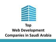 Top Web Development Companies in Saudi Arabia