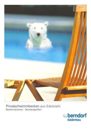 Privatschwimmbecken aus Edelstahl - Berndorf Bäderbau