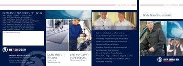 Kleiner Unternehmensflyer Industrie ... - Berendsen GmbH