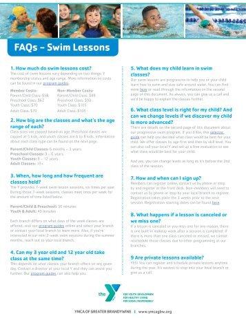 FAQ Swim Lessons