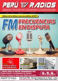REVISTA PERÚ TV RADIOS MAY - JUN 2018