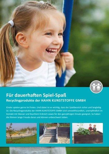 Für dauerhaften Spiel-Spaß - Hahn Kunststoffe GmbH