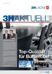 Top-Qualität für Büromöbel - 3H-Lacke