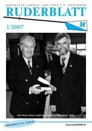 Ruderblatt Ausgabe 1/2007 -