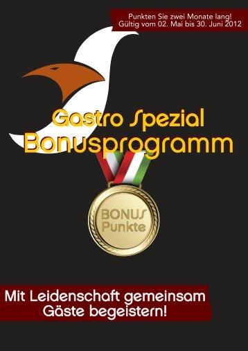 Gastro Spezial Regional - Bonusprogramm 2012 - Recker Feinkost ...