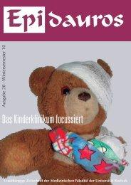 Das Kinderklinikum focussiert - der Fachschaft - Universität Rostock