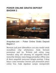 POKER ONLINE GRATIS DEPOSIT BAGIAN 2