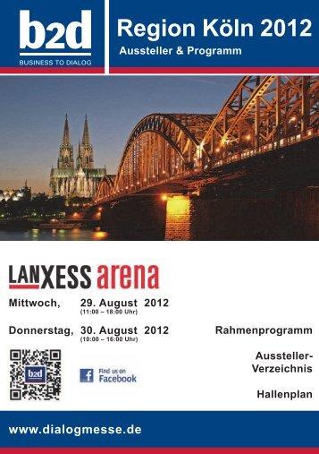 Region Köln 2012 - b2d business to dialog Hofes e.K.