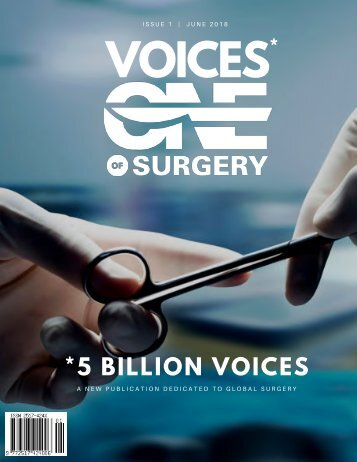 5 Billion Voices - Voices of One Surgery - Issue 1: June 2018