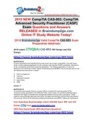 [2018-May-Version]Braindump2go CAS-003 VCE Dumps 270Q Free Share(34-44)
