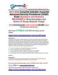 [2018-May-Version]Braindump2go CAS-003 PDF Dumps 270Q Free Share(12-22)