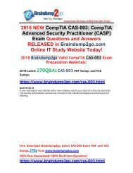 [2018-May-Version]Braindump2go CAS-003 VCE and CAS-003 PDF Dumps 270Q Free Share(45-55)