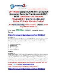[2018-May-Version]Braindump2go CAS-003 Dumps with PDF and VCE 270Q Free Share(23-33)