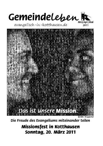 Missionsfest in Kotthausen am Sonntag, 20. März 2011
