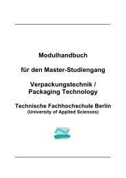 Modulhandbuch für den Master-Studiengang Verpackungstechnik ...