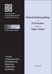 Tiger Team BroschŁre - Compass Security AG