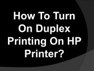 Easy Steps To Turn On Duplex Printing On HP Printer