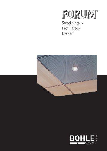 Innenausbau: Rasterdecken - Bohle-Gruppe